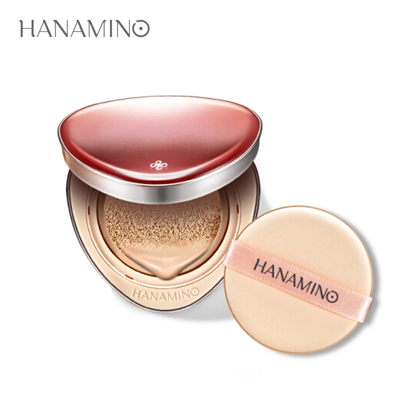 HANAMINO Air Cushion BB Cream Foundation Concealer Moisturizer Foundation Whitening Pores Invisible Oil Control Beauty Makeup new pnf brand makeup moisturizer whitening air cushion bb cc cream primer face concealer brightener foundation base bb cream