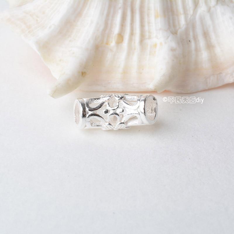 纯银吊环镂空花纹弯管 (2)