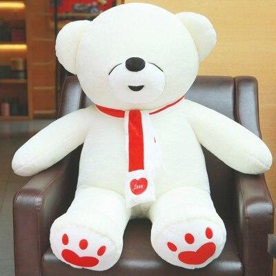 200 cm peluches ours en peluche peluches pour enfants 79 pouces kawaii jouets en peluche bébé nouvel an chinois 2018 unités de jouet d'oreiller
