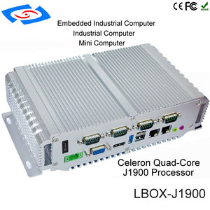 Image 1 - 2018 Factory Price Intel Bay Trail J1900 Quad Core Mimi PC With Dual Lan Mini Box Industrial Computer Support 3G/4G/LTE WiFi