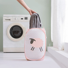 1pcs Foldable Household Hamper Large Capacity Dirty Clothes Storage Basket Cute Cartoon Laundry Bathroom Supplies