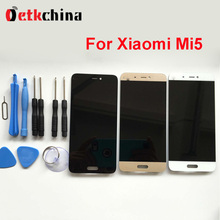 Para xiaomi mi5 pantalla lcd de 5.15 pulgadas pantalla lcd de alta calidad + toque panel reemplazo para xiaomi mi 5 pro prime teléfono móvil
