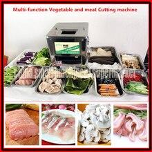 Электрический и ручной двойного назначения коммерческий пищевой нержавеющей стали овощерезка и мяса резки кубиков машина