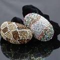 40*64mm Inlaid Rhinestone Rope Wedding Headdress Headband Headpiece Crystal Hair Accessory Clip Hairpin Elestic Gifts