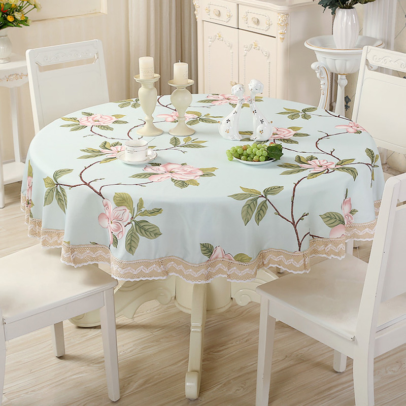Home Decor Dining Table: Waterproof Oilproof Tablecloth Floral Printed Table Cover