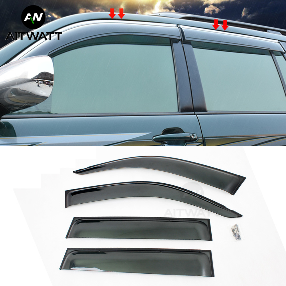 for 2004-2009 Mazda 3 4Dr Sedan Window Visor Shade//Vent Sun//Rain Guard Deflector
