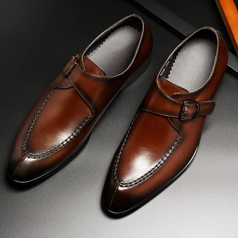 Hommes en cuir véritable chaussures d'affaires robe formelle chaussures hommes angleterre mode mocassins Oxfords taille 37 44 usine directe en gros-in Chaussures d'affaires from Chaussures    1