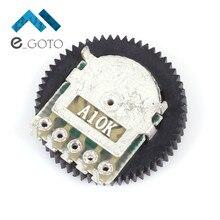 10 шт. A103 10 К дуплекс Шестерни потенциометра Циферблат A10K 16×2 мм для Радио MP3/MP4 объем переключатель регулировки