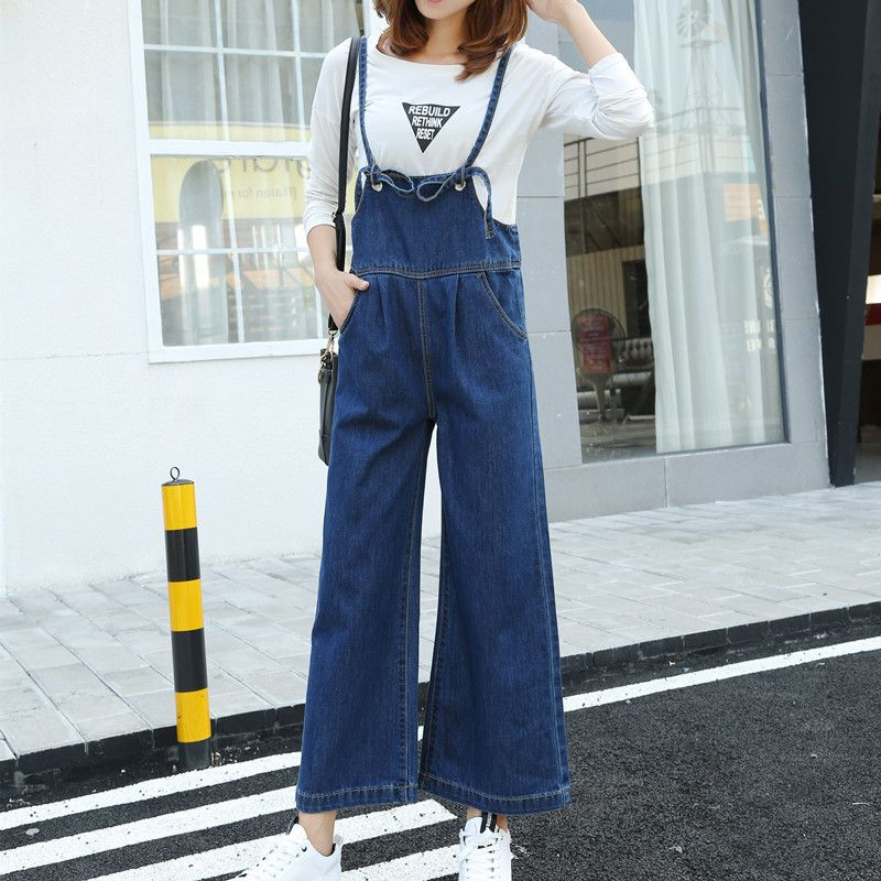 Jeans Women's Clothing 2016 Womens New Spring And Summer Loose Hole Plus Size Casual Bib Pants Hip-hop 7 Jean Jumpsuit Punctual Timing