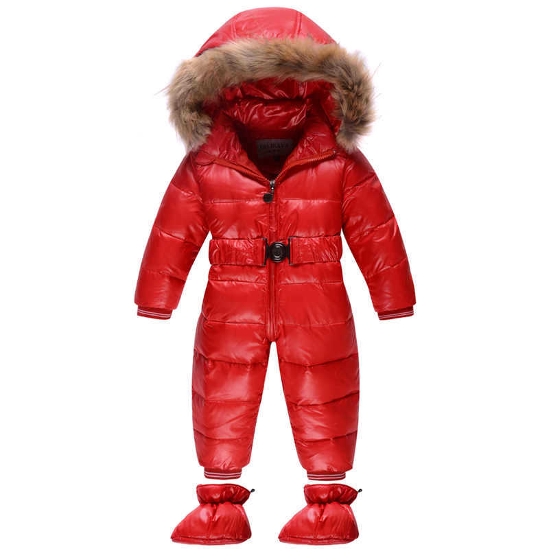 ФОТО Boys Snowsuit Girls Snowsuit Boys Winter Jumpsuit Baby Winter Romper Kids Windproof Overalls Down Padded For Winter In Russion