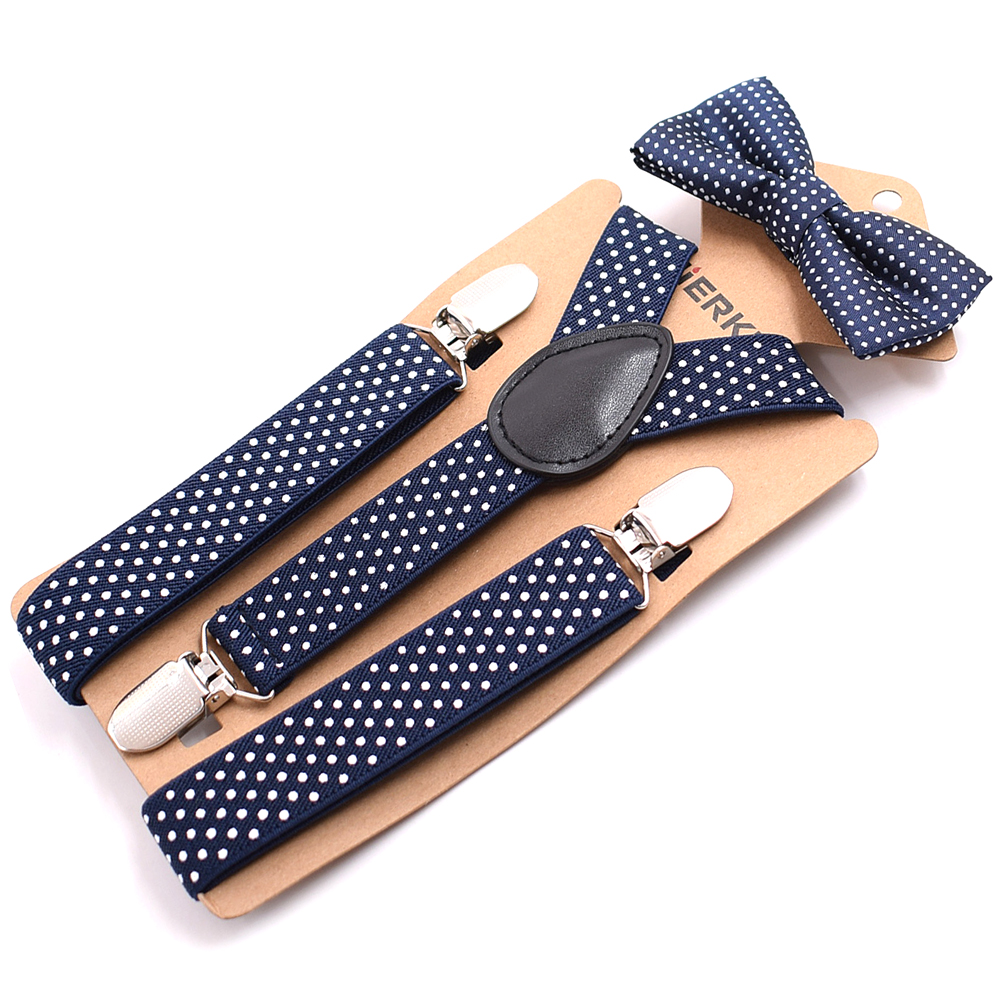 Wholesale Baby Suspenders Kids Braces With Tie Environmental Clasps Suspenders Set Children Suspensorio Elastic Strap 100pcs/lot