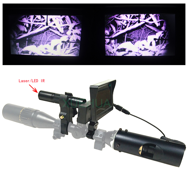 New Hot Hunting optics sight Laser Infrared night vision riflescope Hunting Accessories with Infrared Flashlight and