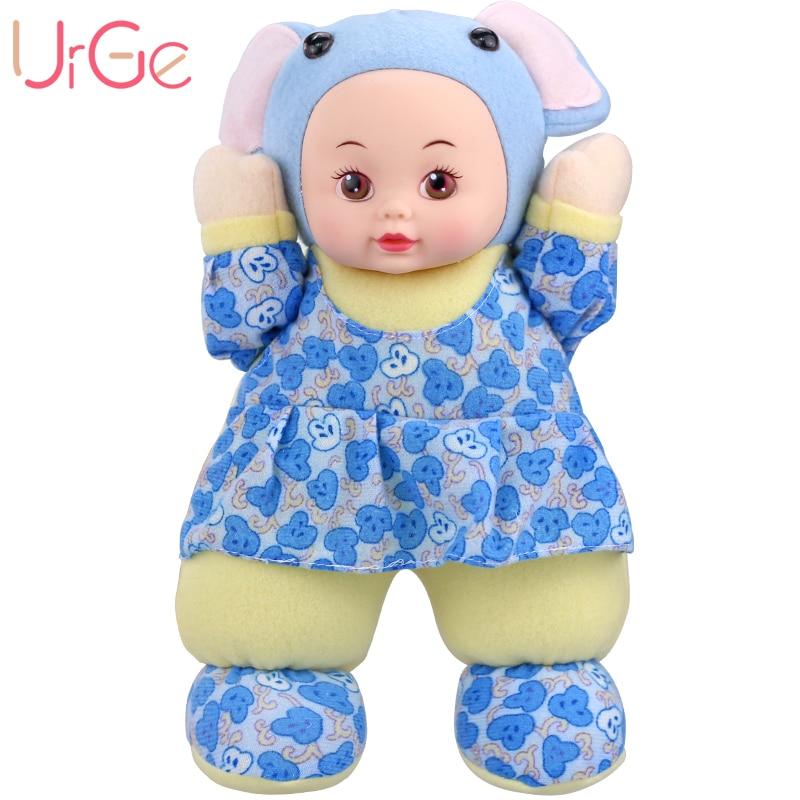 30cm En Peluche Doux kawaii Cartoon Éléphant Poupées Doux Silicone Reborn bébé jouets Poupées pour filles Anniversaire Cadeau De Noël URGE