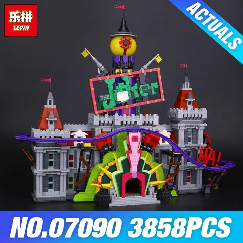 Lepin 07090 Le Manoir de Joker Ensemble Chaud-vente 3857 Pcs Super Hero Série 70922 Blocs de Construction Briques De Noël enfants Cadeau de Garçon