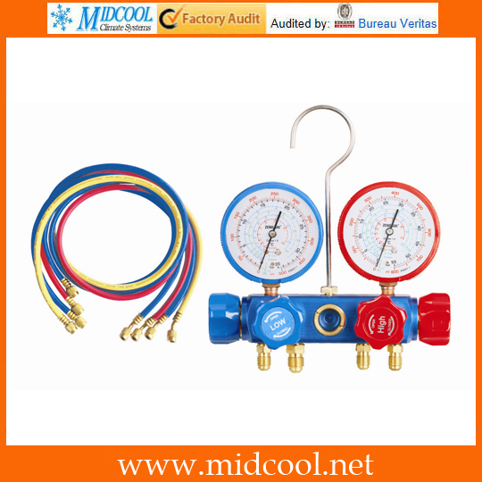 Four-way Manifold Gauge Set Aluminum Valve Body 1011