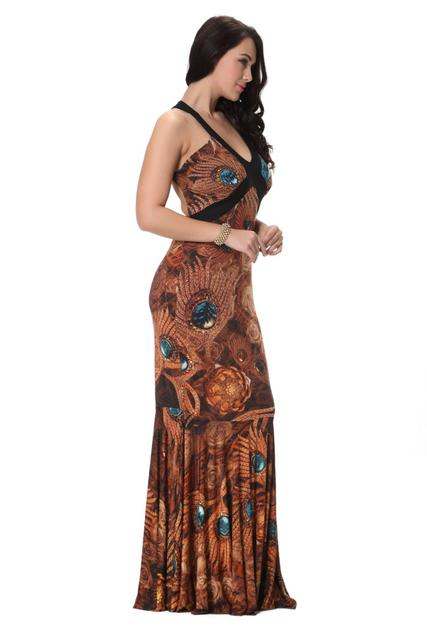 New Maxi dresses Summer Fashion Women Sexy V-neck Plus Size 5XL 6XL 7XL Long Tail Halter Dress