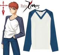fate/stay night Cos Cartoon Anime Emiya Shirou Cosplay Summer Top Long sleeve T shirt Halloween Man Female Cosplay Costume Shirt