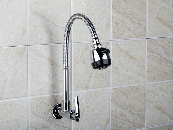 e pak RQ8551 2 Wall Mounted Single Cold All Around Rotate With Plumbing Hose Swivel 2