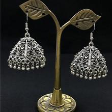 Handwork Tibetan Silver Metal Drop Earrings For Women