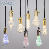3W LED Bulbs Warm White E27 220V Energy Saving Bulbs Retro Glass Edison Light Bulb Filament