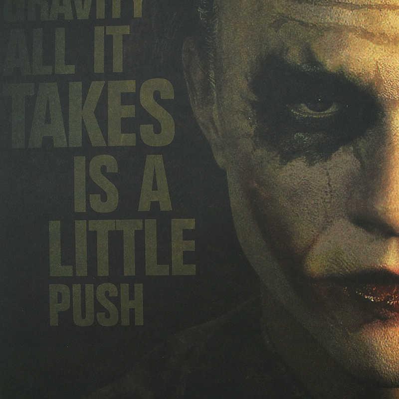 DLKKLB DC Batman Dark Knight Vintage Poster Clown Klassische Film Dekoration Wand Aufkleber Bar Cafe 51,5x36 cm Dekorieren malerei