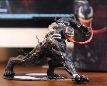 Figuras de acción de Disney Los vengadores de Marvel Venom, Spiderman, 18cm, modelo de postura, colección de decoración de Anime, juguete