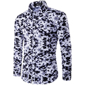 3D Military Camouflage Print Men Shirt Fashion Chemise Homme Brand Clothing Camisa Social Masculina Long Sleeve Shirts Plus Size
