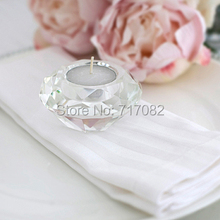Free Shipping! Crystal Candle Holder, tealight candle holders, glass Tea Light Candlestick for wedding decor, home centerpieces