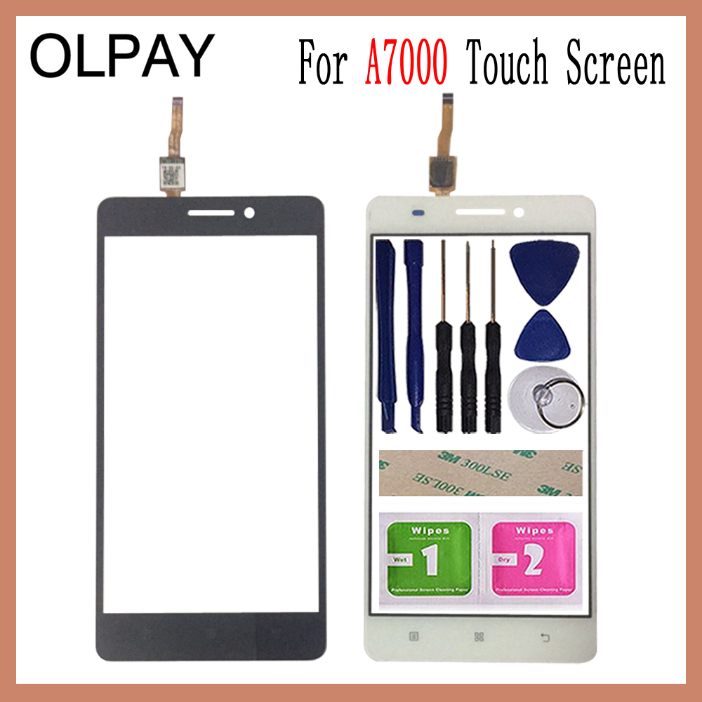 OLPAY 5.5'' Mobile Phone For Lenovo A7000 K3 Note K50-t5 A 7000 Touch Screen Glass Digitizer Panel Lens Sensor Tools
