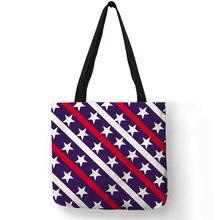 6df7af42e369 Геометрия полосатый принт складной многоразовые женская сумка-шоппер тряпичная  сумка(China)