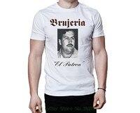 T Shirt Men Tees Brand Clothing Funny Brujeria El Patron 1995 Pablo Escobar Song Cover Art