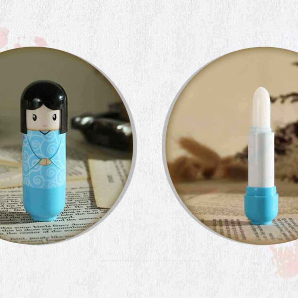 Bonito japonês boneca quimono escudo hidratante reparação protetor de bálsamo labial