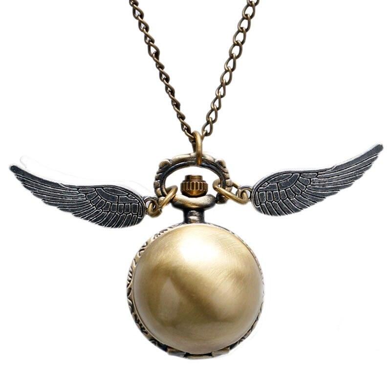 2017 Anqiue Golden Quartz Pocket Watch Steampunk Ball Men Women Children Boy Girl Fob Clock Pendnat Gifts