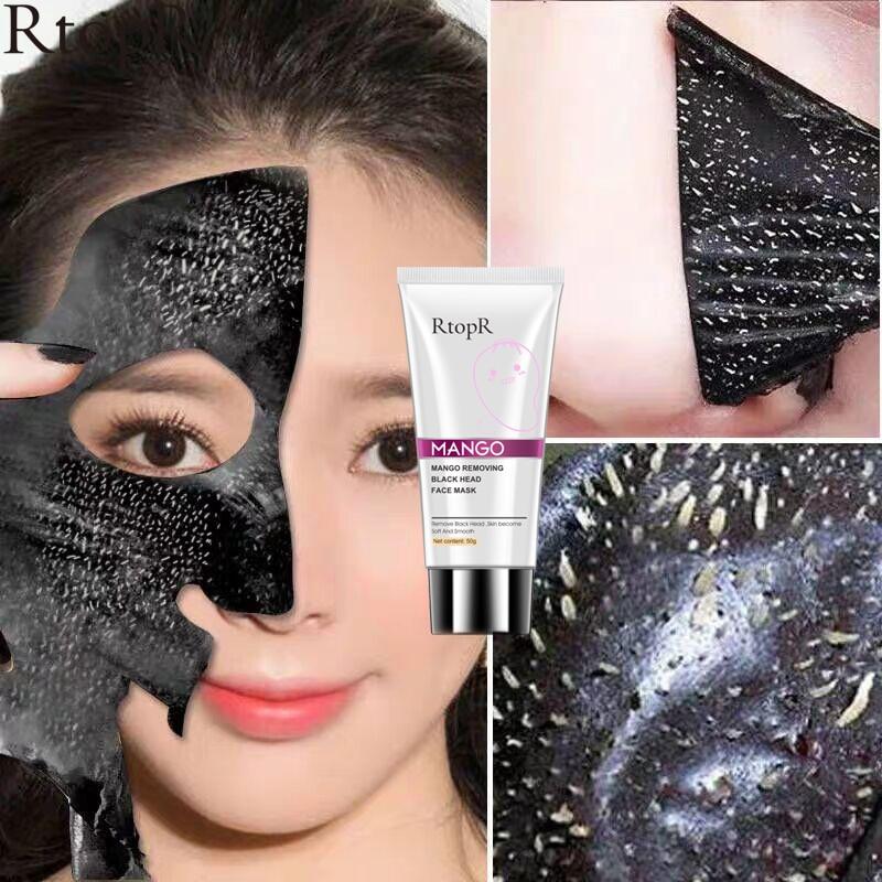 RTOPR Blackhead Remover Nose Mask Pore Strip Black Mask Peeling Acne Treatment Face Mask Deep Cleansing Oil-control
