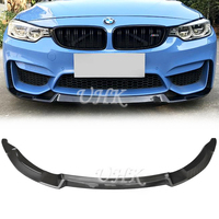 UHK For BMW F80 F82 F83 M3 M4 Carbon Fiber Front Bumper Lip Car Accessories Spoiler For 3 Series 4 Series Protector