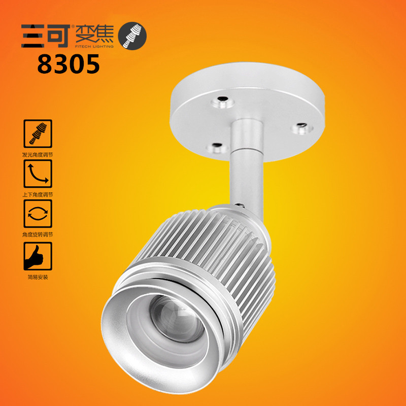 High Quality 5W COB chip Zoomable Surface Mounted Led Ceiling Spotlights For Museum Lighting Background Wall