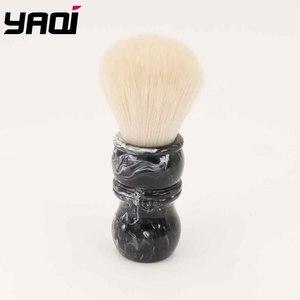 Image 3 - Yaqi פגם ידית הצעה מיוחדת גילוח מברשת עם קשמיר סינטטי שיער קשר