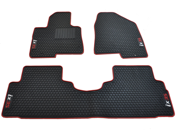 free ship car mats thick green waterproof non-slip rubber carpets for Hyundai IX35 wear resistant easy to clean