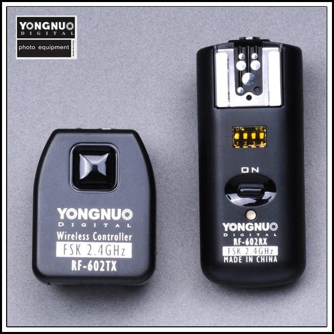 永諾キヤノン RF-602 、ワイヤレスリモートフラッシュトリガー