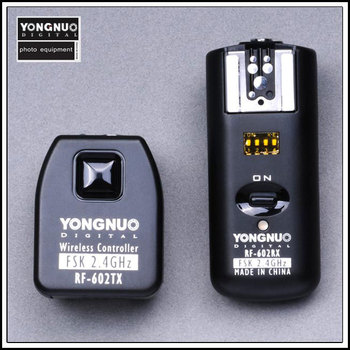 Yongnuo RF 602 עבור Canon, אלחוטי מרחוק פלאש טריגר-בפלאשים מתוך מוצרי אלקטרוניקה לצרכנים באתר