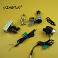 SHOUTAI  3-Model LED Bicycle Headlight Waterpoof Bike Light Lamp 6V3W  Friction Generator Cycling Front Light & USB Light Suit