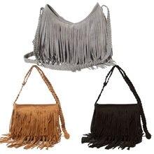 Горячая Продажа женской Моды Suede Weave Кисточкой Сумка Сумка Бахромой Сумки LT88