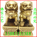 Бронзовая статуя медный Лев украшение Львы ворота Пекин Лев бронзовые ремесла
