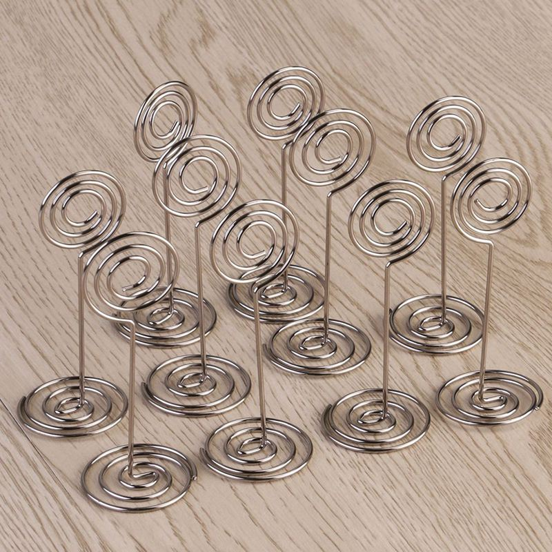10pcs Swirl Table Number Photo Holder Stands For Weddings Party Gatherings