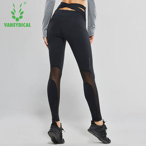 a25418ddf Vansydical Women High Waist Yoga Pants Compression Running Leggings