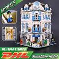 Новый 3196 шт. Лепин 15018 MOC Создатель Город Серии Sunshine Hotel Набор Строительные Блоки Кирпичи Развивающие Игрушки