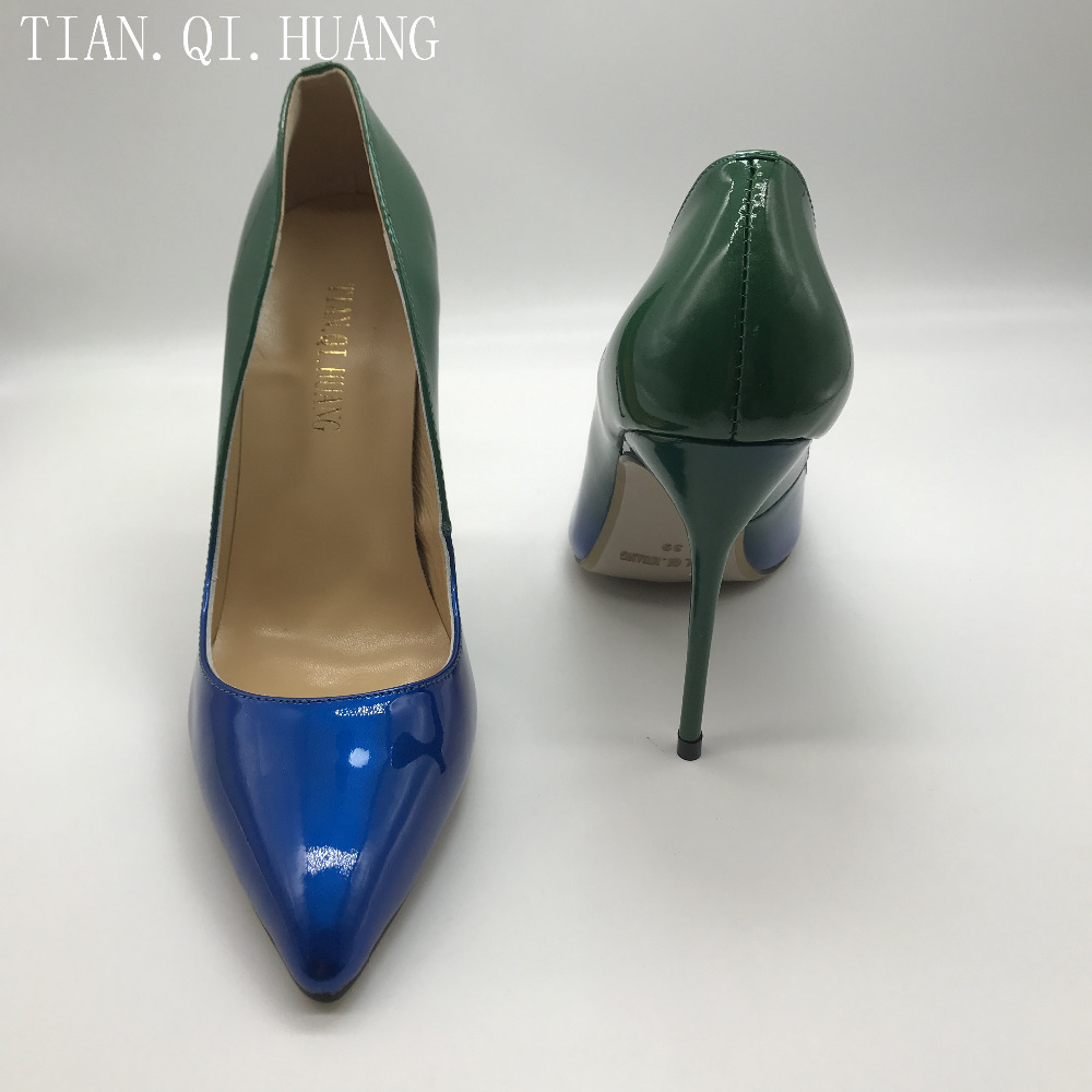 Fashion Design Women Shoes Pumps Sexy Fashion Pointed Toe High Heels Casual Patent leather Style Shoes Woman TIAN.QI.HUANG 2