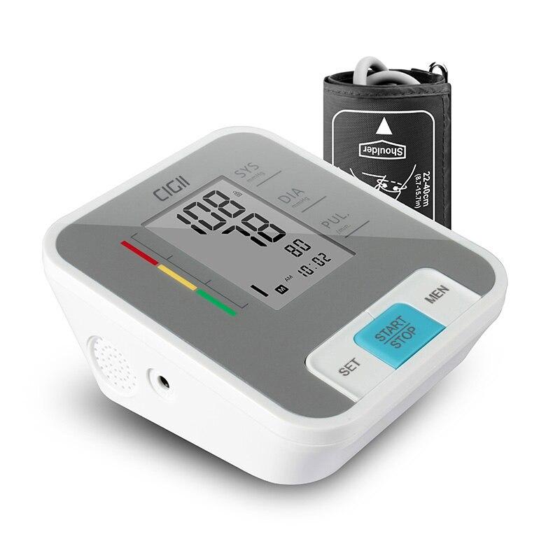 Cigii ЖК дисплей Цифровой предплечье крови Давление пульсотахометр инструмент измерения Здравоохранение голос вещания 1 шт тонометр купить на AliExpress