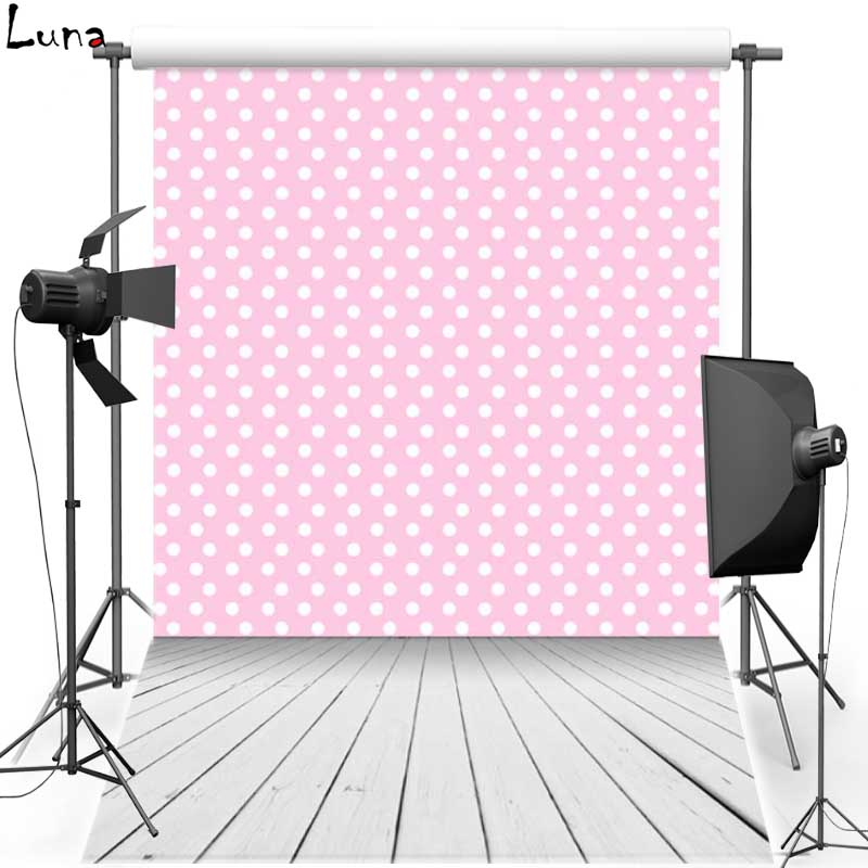Pink Dots Vinyl Photography Background Backdrops For Children Wood Floor Oxford Background For Wedding Photo Studio F1527  vinyl photo backdrops for photo studio button oxford photography background wood floor for children free shipping