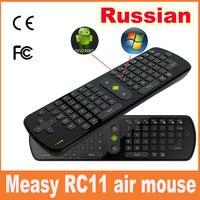 2017 2.4 גרם Mini מקלדת רוסית אלחוטית לטוס RC11 עכבר אוויר עבור אנדרואיד הטלוויזיה BOX Dongle/מיני מחשב שחקן טלוויזיה משלוח חינם